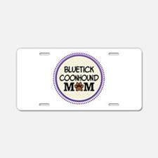 Bluetick Coonhound Dog Mom Aluminum License Plate