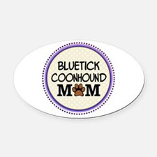 Bluetick Coonhound Dog Mom Oval Car Magnet