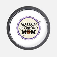 Bluetick Coonhound Dog Mom Wall Clock