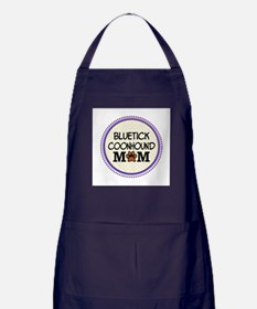 Bluetick Coonhound Dog Mom Apron (dark)