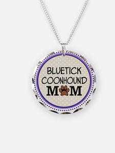Bluetick Coonhound Dog Mom Necklace