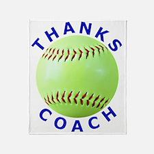 Softball Coach Thank You Unique Gift Throw Blanket