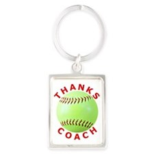 Softball Coach Thank You Unique  Portrait Keychain