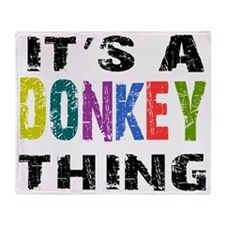 donkeything Throw Blanket