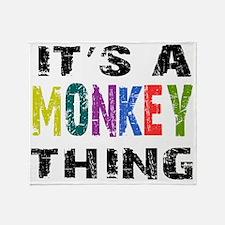 monkeything Throw Blanket