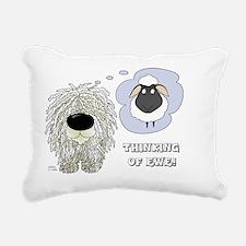 ThinkingOfEweCard3 Rectangular Canvas Pillow
