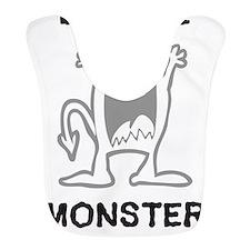 B MONSTER - White Bib