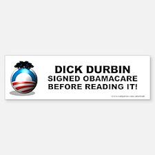 Durbin Signed Bumper Bumper Sticker