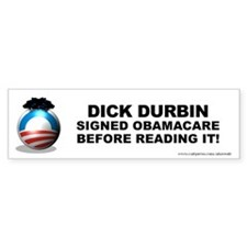 Durbin Signed Bumper Sticker