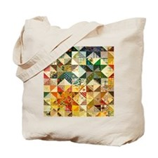 Fun Patchwork Quilt Tote Bag
