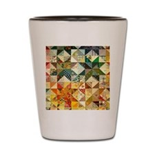 Fun Patchwork Quilt Shot Glass