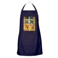 Fun Patchwork Quilt Apron (dark)