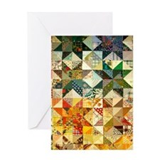 Fun Patchwork Quilt Greeting Card
