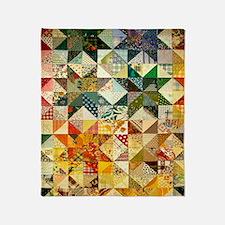 Fun Patchwork Quilt Throw Blanket