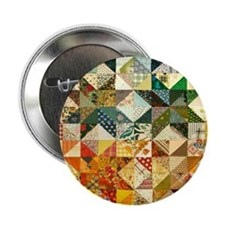 "Fun Patchwork Quilt 2.25"" Button"