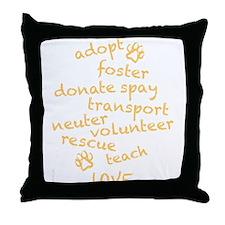 Helping Pets Throw Pillow