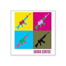 "Ukara Sorted Square Sticker 3"" x 3"""
