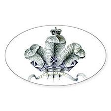 Welsh Ich Dien Emblem Oval Decal