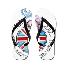 Diamond Jubilee Poster Flip Flops