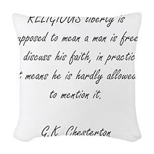 religious freedom Woven Throw Pillow