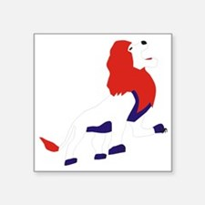 "Roaring British Lion Square Sticker 3"" x 3"""
