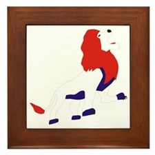 Roaring British Lion Framed Tile