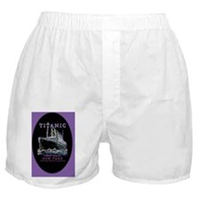 TG9OvalOrnPurple Boxer Shorts