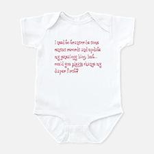 Change Diaper First Infant Bodysuit