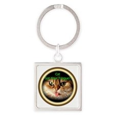 Cat: 0001 Square Keychain