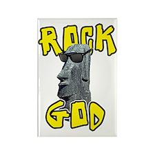 Rock God Rectangle Magnet