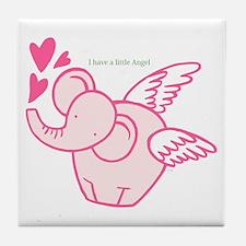I Have A Little Angel Tile Coaster