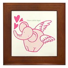 I Have A Little Angel Framed Tile