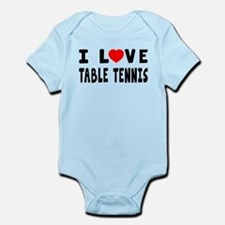 I Love Table Tennis Infant Bodysuit