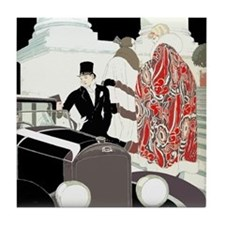 Art Deco Gatsby Scene Tile Coaster