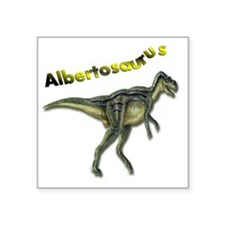 "ALBERTOSAURUS Square Sticker 3"" x 3"""