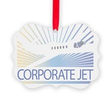Aircraft Corporate Jet Ornament