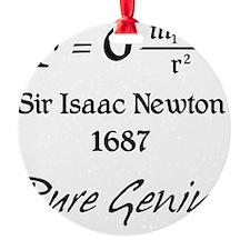Newton-pure-genius Round Ornament