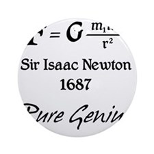 Newton-pure-genius Round Ornament