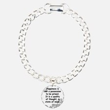 Maurier Happiness quote Bracelet