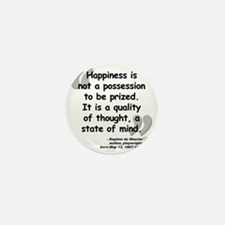 Maurier Happiness quote Mini Button
