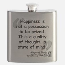 Maurier Happiness quote Flask