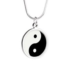 Yin Yang Silver Round Necklace