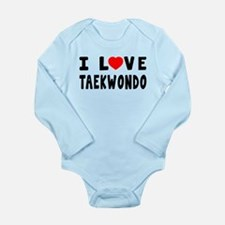 I Love Taekwondo Long Sleeve Infant Bodysuit