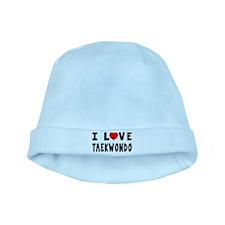 I Love Taekwondo baby hat