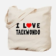 I Love Taekwondo Tote Bag