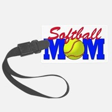 girls softball(blk) Luggage Tag