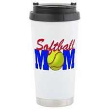 girls softball(blk) Travel Mug