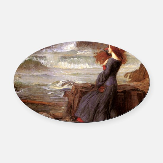 Miranda The Tempest Oval Car Magnet