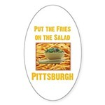 Fries Oval Sticker