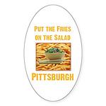 Fries Oval Sticker